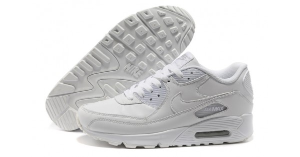 Nike Air Max 90 All White women's Shoes