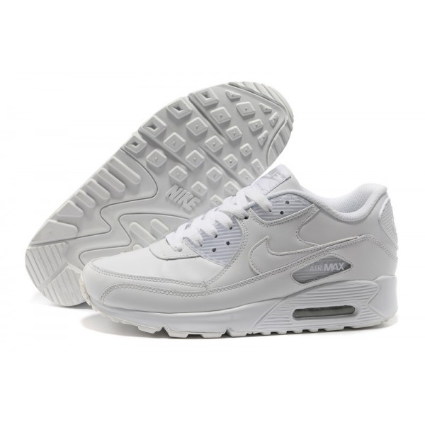 Nike Air Max 90 All White Men's classic Shoes
