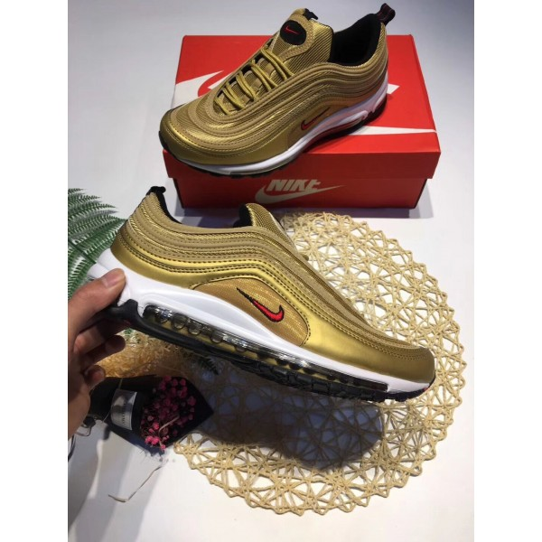 Nike Air Max 97  Swarovski  gold women shoes red logo 46fadec95