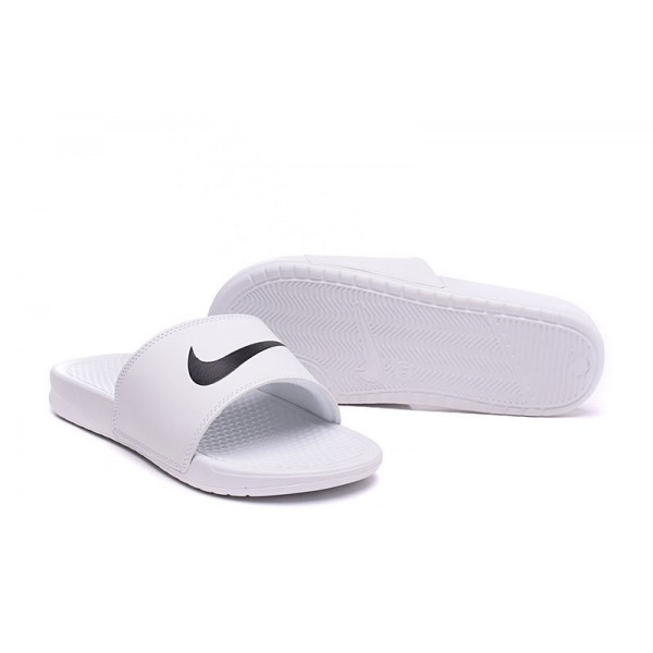 Nike Benassi men slipper white and black