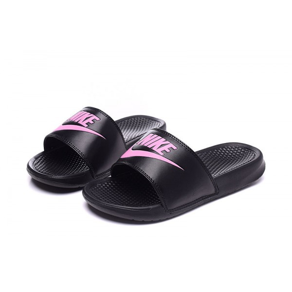 Nike Benassi women slipper black and pink