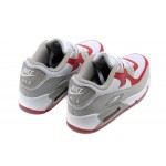Nike Air Max 90 White Red Men's Running Shoes