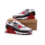 Nike Air Max 90 Men's Gray White Red Running Shoes
