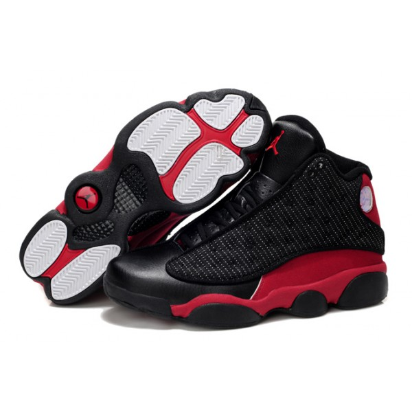 sports shoes 3b7fc 369d5 Nike Air Jordans 13 Retro Basketball Shoes Black   Red