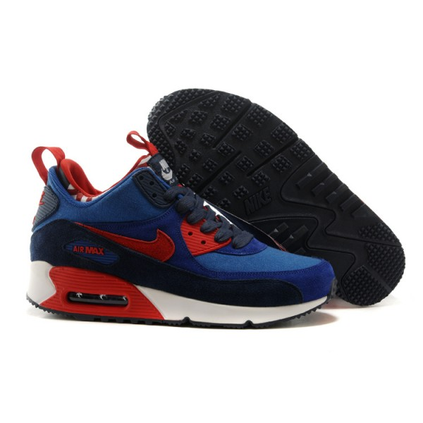 Nike Air Max 90 Sneakerboots PRM red blue white