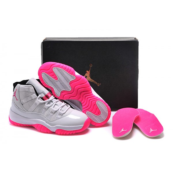 best website 12124 24d00 Nike Air Jordans 11 Retro High White   Pink