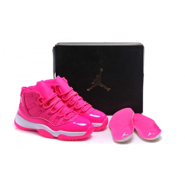 10574bf8829998 Nike Air Jordans 11 Retro High Hyper Pink   White