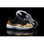 men's Nike Air Jordans 11 Retro Black / Golden / White