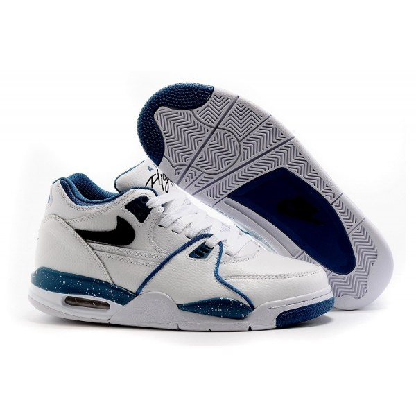 Nike Air Flight 89 Shoes White Blue