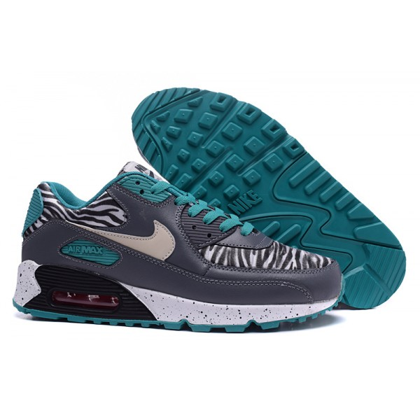 sneakers for cheap 3e06a 2748b Nike Air Max 90 Zebra Grey   Blue Men s Shoes