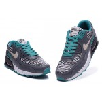 Nike Air Max 90 Zebra Grey / Blue Men's Shoes