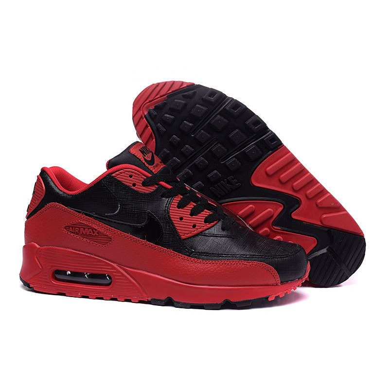 Air Max 90 Yeezy Men Black Red Nike Airmax 90 Cheap Mens
