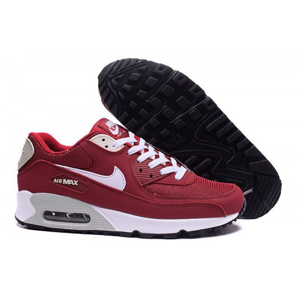 buy popular f93e5 b7eea Nike Air Max 90 Shoes Dark Red   White