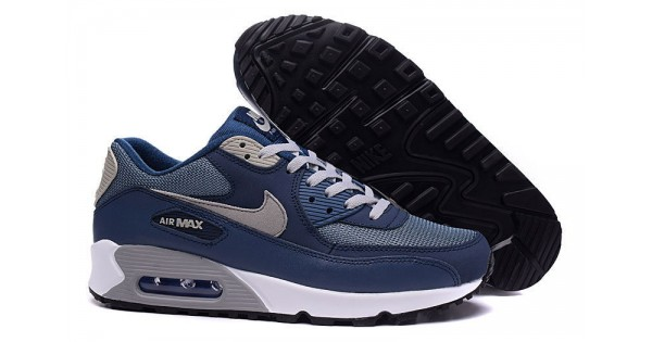 new concept 05a91 99f72 Nike Air Max 90 Shoes Blue   White