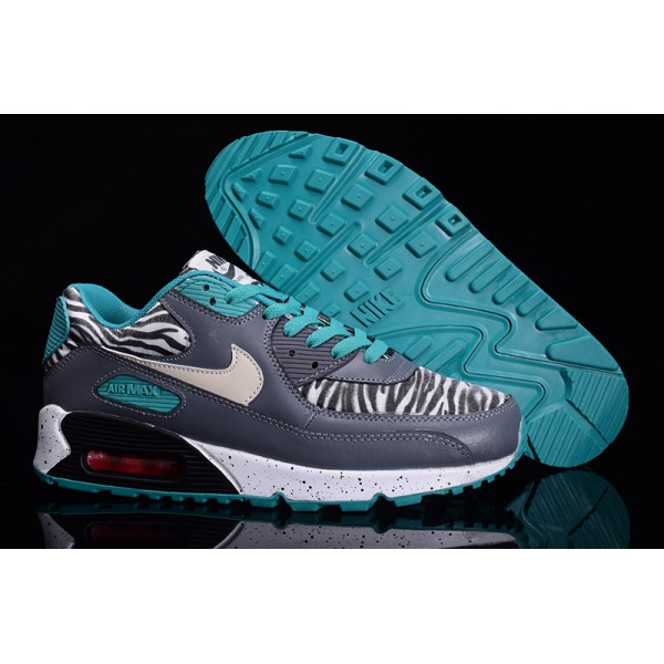 9ed76abe311d Nike Air Max 90 Zebra Grey   Blue