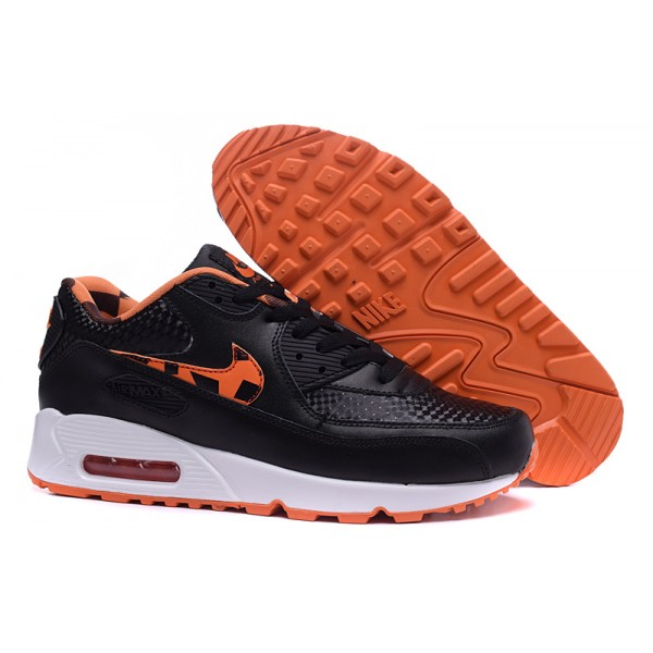 135026cdc2da Nike Air Max 90 Shoes Black   Orange   White