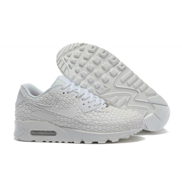 the latest 5be3d 5a95d Nike Air Max 90 Shoes KPU Men s All White