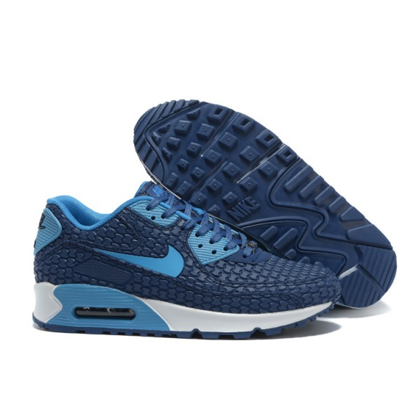 premium selection 38aef ca5ba Nike Air Max 90 Shoes KPU Men s Navy Blue   Blue